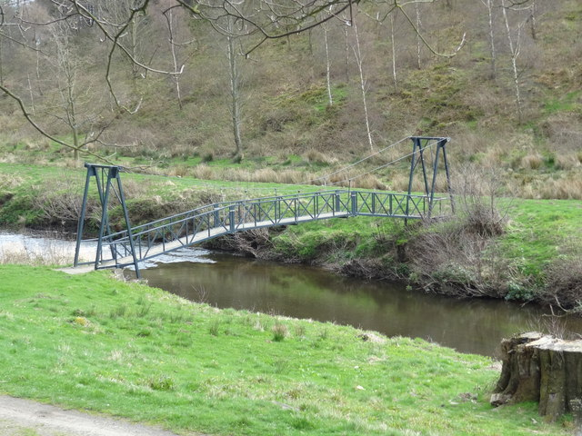 Footbridge over the River Aln
