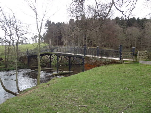 Iron Bridge over the River Aln