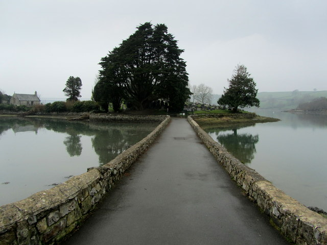 Causeway leading to Church Island