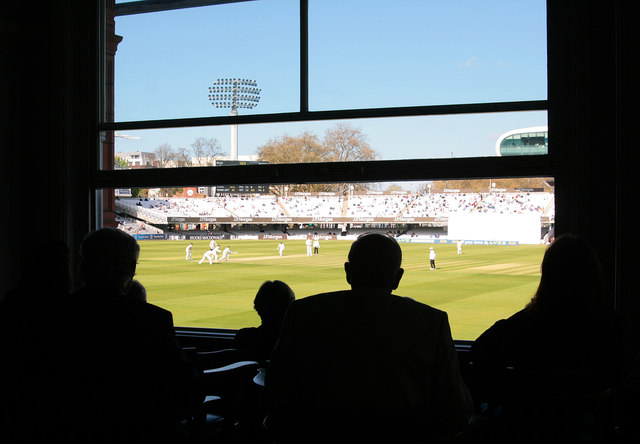 Middlesex v Nottinghamshire - from the MCC Committee Room