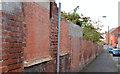J3573 : Old factory wall, Belfast - April 2014(2) by Albert Bridge