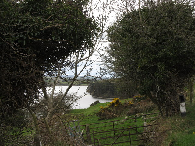 A glimpse of Camlough lake from a field gate on Keggall Road