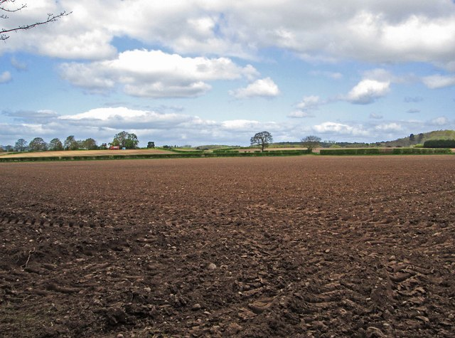 Ploughed field near Kidderminster