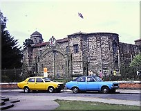 TL9925 : Colchester Castle in 1981 by Clint Mann