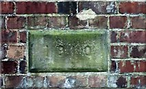 SO7643 : Railway tunnel air-shaft date stone 1910, Upper Colwall by Bob Embleton