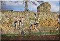 TQ5946 : Garderobes, Tonbridge Castle by N Chadwick