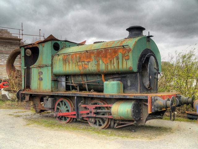 Rusting Locomotive, Threlkeld Quarry and Mining Museum