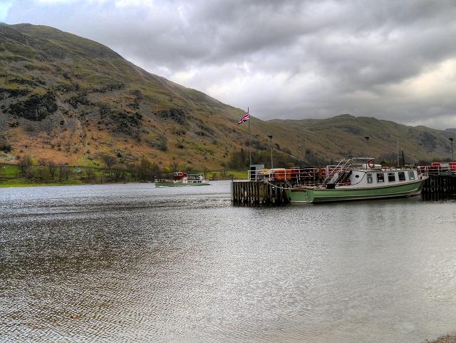 Steamer Passing Glenridding Pier