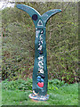 SK7519 : Millennium Milepost, Melton Country Park by Kate Jewell