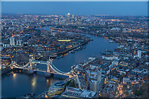 TQ3280 : Looking East from The Shard, London SE1 by Christine Matthews