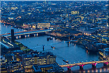 TQ3280 : Looking West from The Shard, London SE1 by Christine Matthews