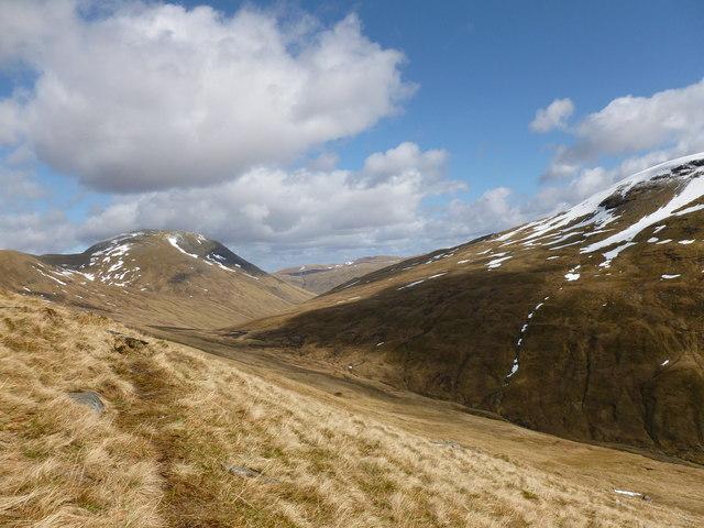 View towards the flank of Beinn a' Chuirn