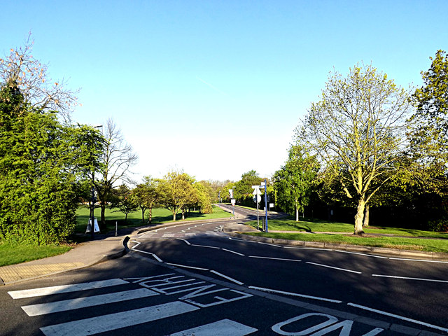 Campus Road on Stag Hill Campus at The University of Surrey