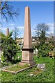 TQ2382 : Memorial obelisk, Kensal Green Cemetery by David P Howard