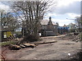 NZ2567 : Demolition work at Former School by Les Hull
