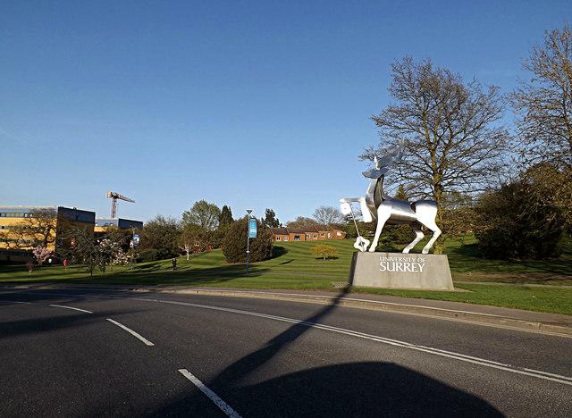 Perimeter Road & The University of Surrey sign