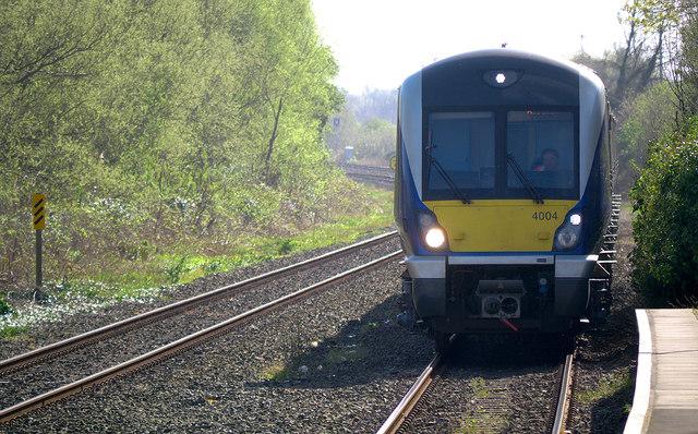 Train, Holywood Railway Station