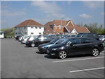 ST3050 : Clubhouse and car park, Burnham and Berrow Golf Club by Roger Cornfoot