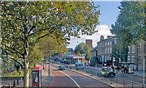 TQ3479 : Jamaica Road and the new London Underground station, Bermondsey by Ben Brooksbank