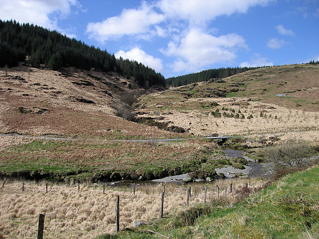 Confluence of the Nant y Gerwyn and the Afon Tywi