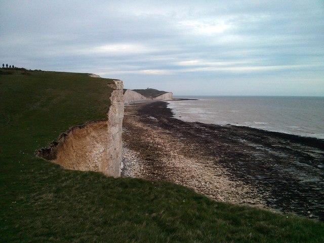 Seven Sisters, view towards Beachy Head