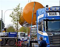J3774 : Fuel tank delivery, Strandtown, Belfast - April 2014(5) by Albert Bridge