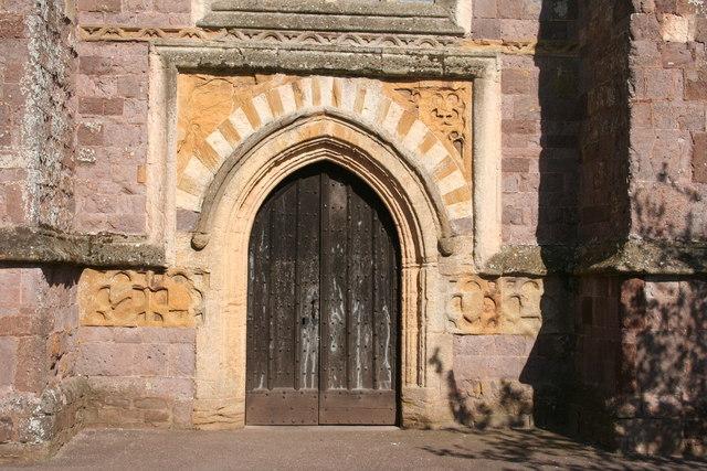 Cullompton: west door, St Andrew's Church