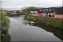 SE1537 : The River Aire below Baildon Bridge by Bill Boaden