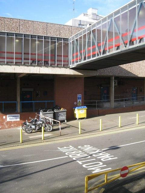 Service area below the footbridge, Clarke Street, Redditch
