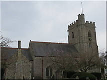 SY2591 : The Church of St Michael at Axmouth by Peter Wood