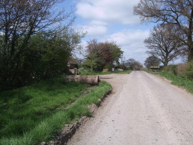 Road past Park Farm, Braydon
