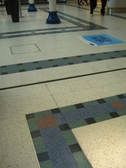 Floor finish, part of Kingfisher shopping centre, Redditch