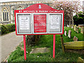 TM4290 : St.Michael's Church Notice Board by Adrian Cable