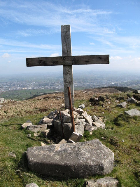 The summit of Camlough Mountain