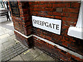 TM4290 : Sheepgate sign by Adrian Cable