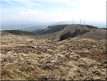 J0525 : The view from the upper slopes of Camlough Mountain towards the Telecommunications Masts by Eric Jones