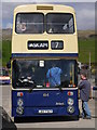 NY7914 : Boarding A Leyland Atlantean At Brough by James T M Towill