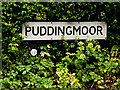 TM4189 : Puddingmoor sign by Adrian Cable