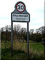 TM4191 : Gillingham Village Name sign on Gillingham Dam by Adrian Cable