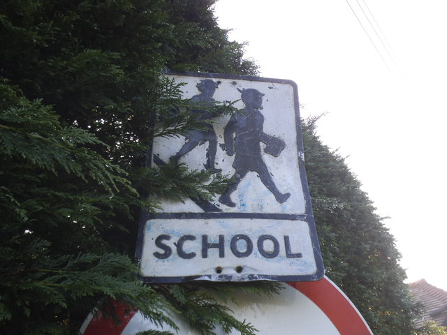 Pre-Worboys school sign on Combe Bank Drive