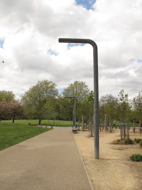 Lamp posts in Fordham Park, Deptford