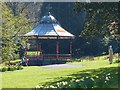 SO1408 : The bandstand in the spring, Bedwellty Park, Tredegar by Robin Drayton