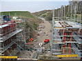 NT3959 : New bridge for Halflawkiln Road by M J Richardson
