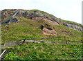 NZ9011 : The cliff above Henrietta Street by Humphrey Bolton