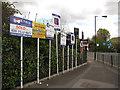 TQ3579 : Estate agents boards, Worgan Street by Stephen Craven