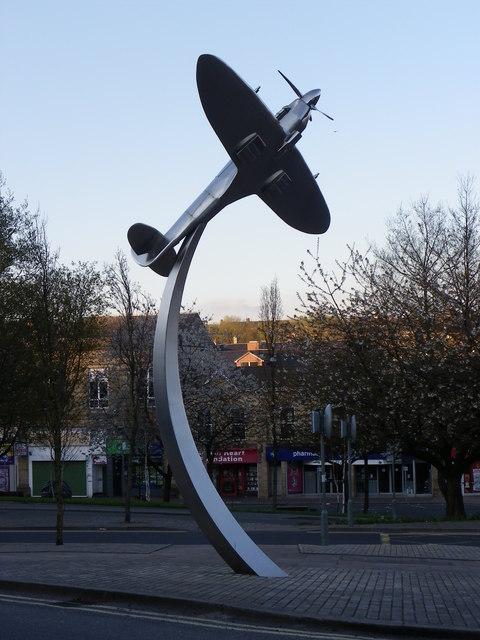Darwen Spitfire Sculpture