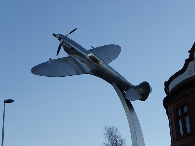 Spitfire WOW at dusk Darwen