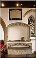 TQ9086 : Holy Trinity, Southchurch - Easter sepulchre by John Salmon