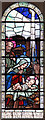 TQ8985 : Sacred Heart, Southchurch - Stained glass window by John Salmon