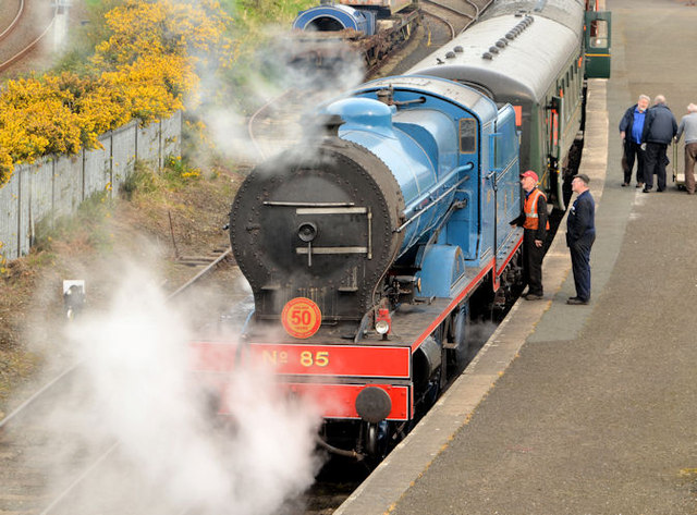 Steam locomotive no 85, Whitehead - April 2014(1)
